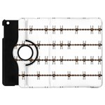 Barbed Wire Brown Apple iPad Mini Flip 360 Case Front