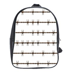 Barbed Wire Brown School Bag (xl)