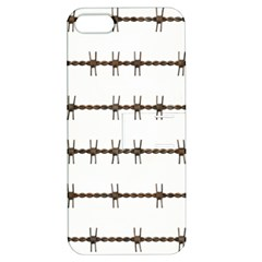 Barbed Wire Brown Apple Iphone 5 Hardshell Case With Stand