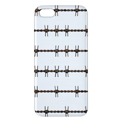 Barbed Wire Brown Apple Iphone 5 Premium Hardshell Case