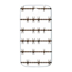 Barbed Wire Brown Samsung Galaxy S4 I9500/i9505  Hardshell Back Case