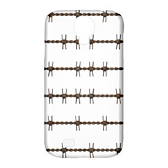 Barbed Wire Brown Samsung Galaxy S4 Classic Hardshell Case (pc+silicone)