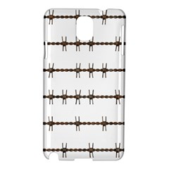 Barbed Wire Brown Samsung Galaxy Note 3 N9005 Hardshell Case