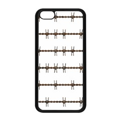 Barbed Wire Brown Apple Iphone 5c Seamless Case (black)