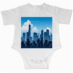 City Building Blue Sky Infant Creepers