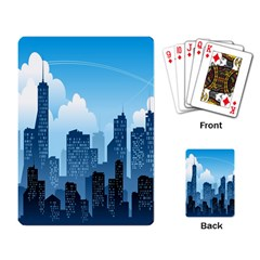 City Building Blue Sky Playing Card