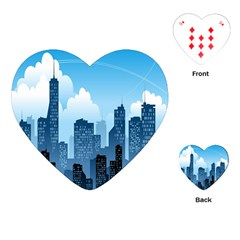 City Building Blue Sky Playing Cards (heart)