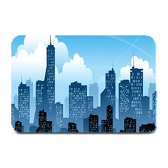 City Building Blue Sky Plate Mats