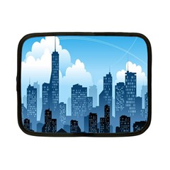 City Building Blue Sky Netbook Case (small)