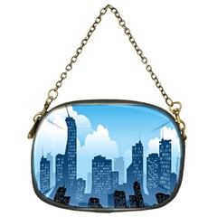 City Building Blue Sky Chain Purses (one Side)