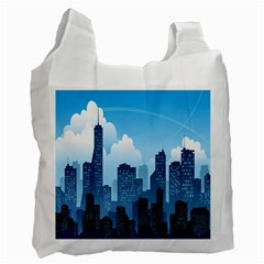 City Building Blue Sky Recycle Bag (two Side)