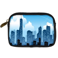 City Building Blue Sky Digital Camera Cases