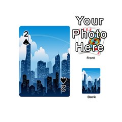 City Building Blue Sky Playing Cards 54 (mini)