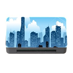 City Building Blue Sky Memory Card Reader With Cf