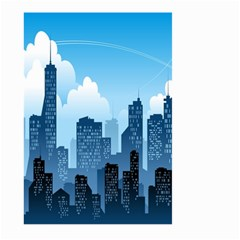 City Building Blue Sky Large Garden Flag (two Sides)