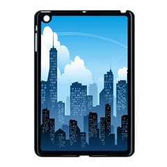 City Building Blue Sky Apple Ipad Mini Case (black)