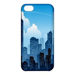 City Building Blue Sky Apple Iphone 5c Hardshell Case