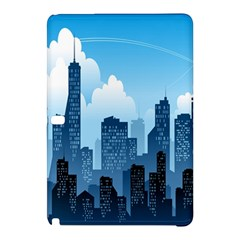 City Building Blue Sky Samsung Galaxy Tab Pro 10 1 Hardshell Case
