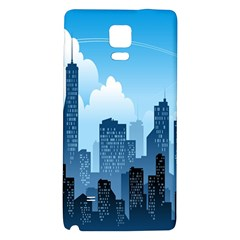 City Building Blue Sky Galaxy Note 4 Back Case