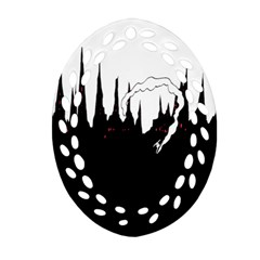 City History Speedrunning Oval Filigree Ornament (two Sides)