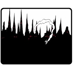 City History Speedrunning Double Sided Fleece Blanket (medium)