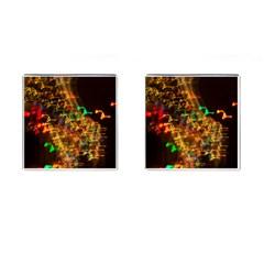 Christmas Tree Light Color Night Cufflinks (square)
