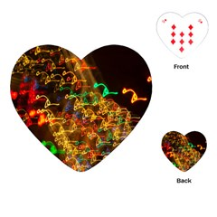 Christmas Tree Light Color Night Playing Cards (heart)