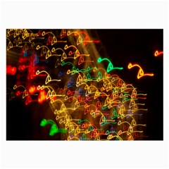 Christmas Tree Light Color Night Large Glasses Cloth (2 Side)