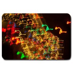 Christmas Tree Light Color Night Large Doormat
