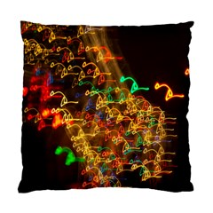 Christmas Tree Light Color Night Standard Cushion Case (two Sides)