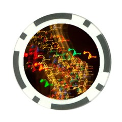 Christmas Tree Light Color Night Poker Chip Card Guard (10 Pack)