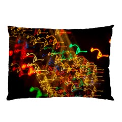 Christmas Tree Light Color Night Pillow Case (two Sides)