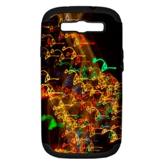 Christmas Tree Light Color Night Samsung Galaxy S Iii Hardshell Case (pc+silicone)