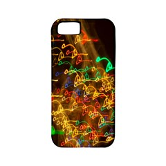 Christmas Tree Light Color Night Apple Iphone 5 Classic Hardshell Case (pc+silicone)