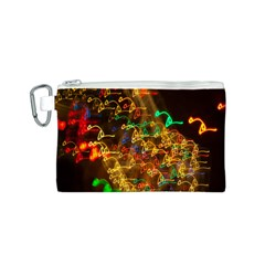 Christmas Tree Light Color Night Canvas Cosmetic Bag (s)