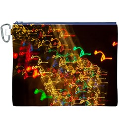 Christmas Tree Light Color Night Canvas Cosmetic Bag (xxxl)