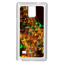Christmas Tree Light Color Night Samsung Galaxy Note 4 Case (white)