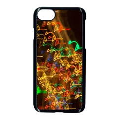Christmas Tree Light Color Night Apple Iphone 8 Seamless Case (black)