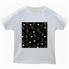 Espresso Cofee Glass Line Chevron Kids White T Shirts