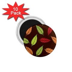 Autumn Leaves Pattern 1 75  Magnets (10 Pack)
