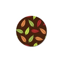 Autumn Leaves Pattern Golf Ball Marker (10 Pack)