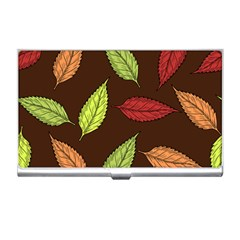 Autumn Leaves Pattern Business Card Holders