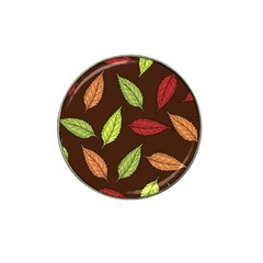 Autumn Leaves Pattern Hat Clip Ball Marker