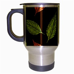 Autumn Leaves Pattern Travel Mug (silver Gray)