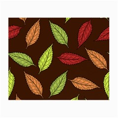 Autumn Leaves Pattern Small Glasses Cloth