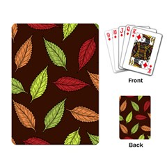 Autumn Leaves Pattern Playing Card