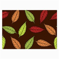 Autumn Leaves Pattern Large Glasses Cloth