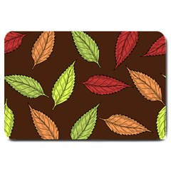 Autumn Leaves Pattern Large Doormat