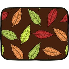Autumn Leaves Pattern Double Sided Fleece Blanket (mini)