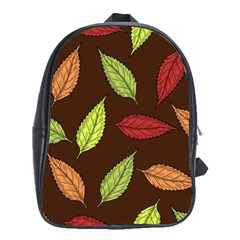 Autumn Leaves Pattern School Bag (large)